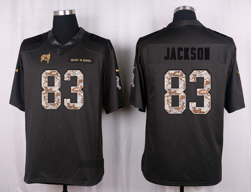 Tampa Bay Buccaneers 83 Jackson 2016 Nike Anthracite Salute to Service Limited Jersey