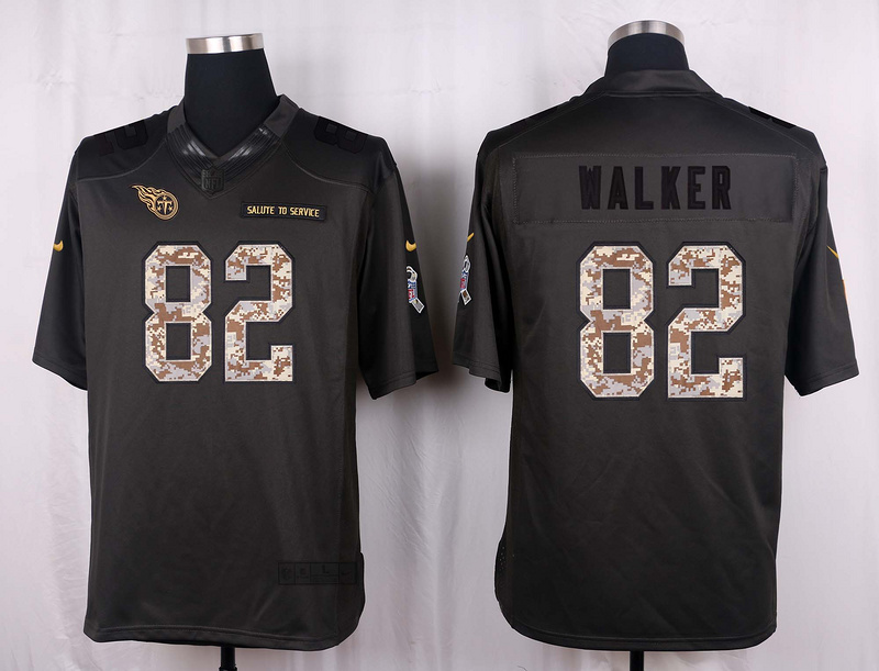 Tennessee Titans 82 Walker 2016 Nike Anthracite Salute to Service Limited Jersey
