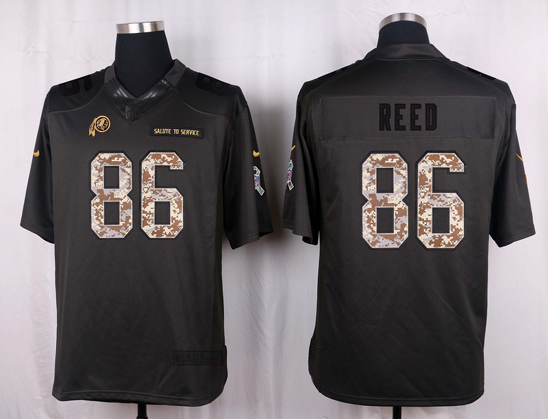 Washington Redskins 86 Reed 2016 Nike Anthracite Salute to Service Limited Jersey