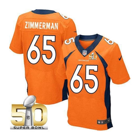 Mens Denver Broncos 65 Louis Vasquez Orange 2016 Super Bowl 50 Elite Stitced NFL Jerseys