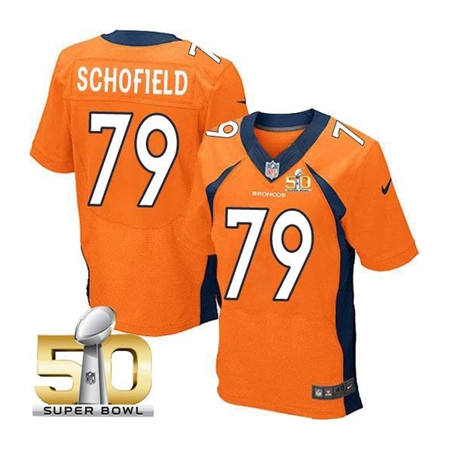 Mens Denver Broncos 79 Michael Schofield Orange 2016 Super Bowl 50 Elite Stitced NFL Jerseys