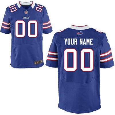 Men's Buffalo Bills Nike Royal Custom Elite Jersey