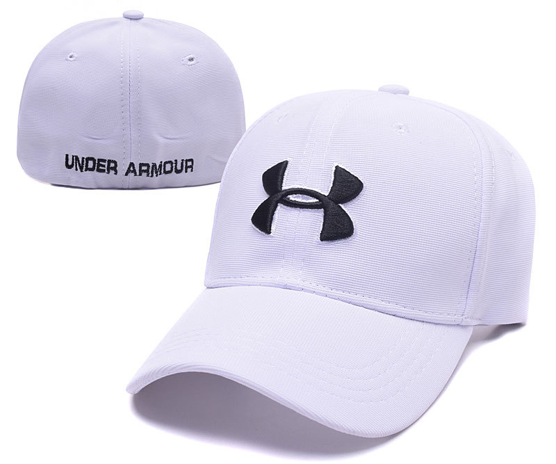 2017 Under Armour Stretch Fitted Hat White