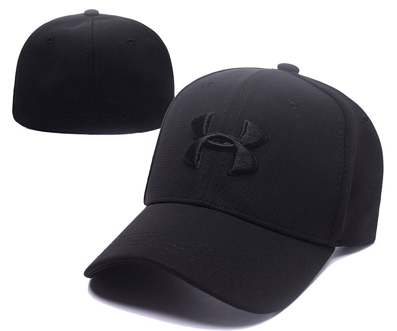 2017 Under Armour Stretch Fitted Hats Black.