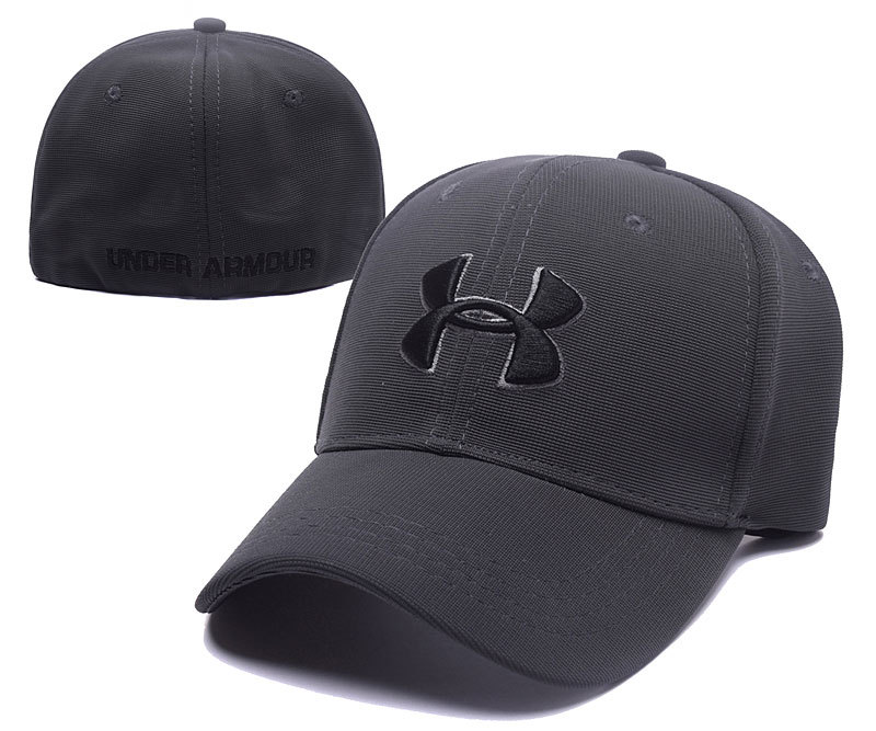 590bf7273774b4 2017 Under Armour Stretch Fitted Hats Gray