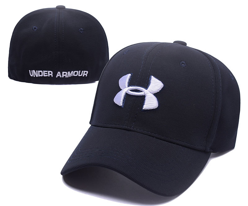 2017 Under Armour Stretch Fitted Hats Navy