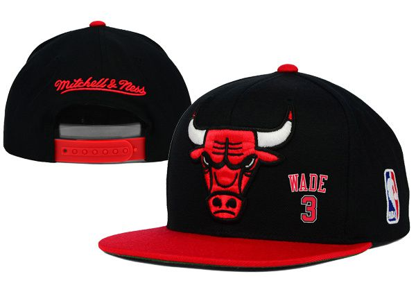 2017 Hot Hat NBA Chicago Bulls Wade Snapback Black