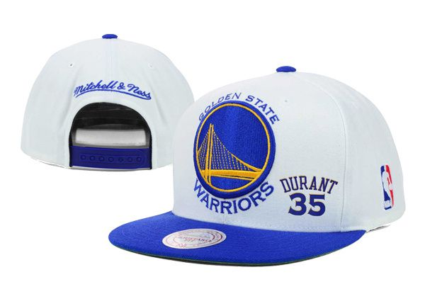 2017 Hot Hat NBA Golden State Warriors Durant Snapback White