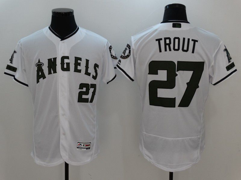 6dd2f3199bc 2017 MLB Los Angeles Angels 27 Trout White Elite Commemorative Edition  Jerseys