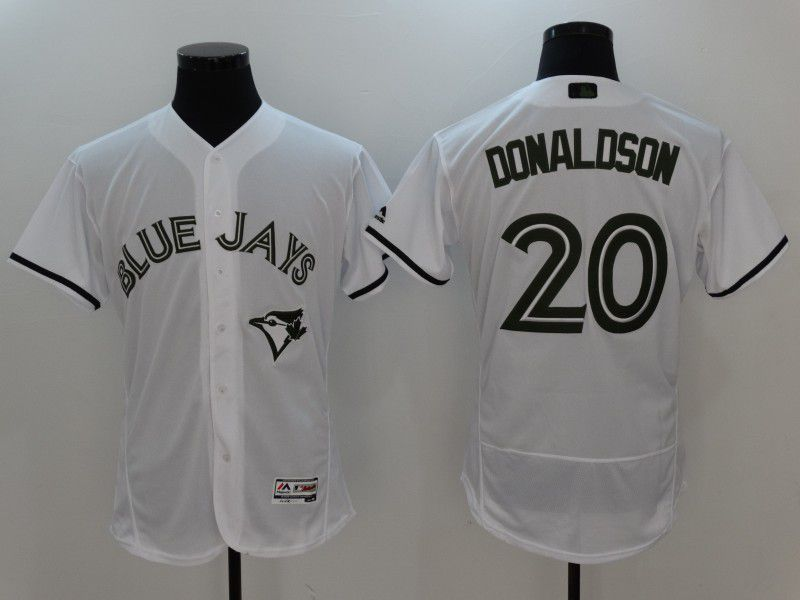 2017 MLB Toronto Blue Jays 20 Donaldson White Elite Commemorative Edition Jerseys