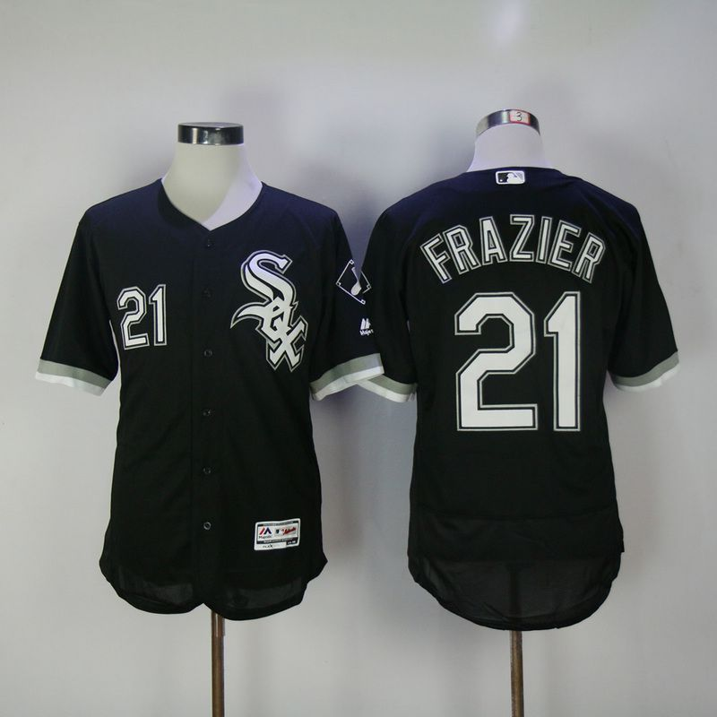 2017 Men MLB Chicago White Sox 21 Frazier Black Elite Jerseys