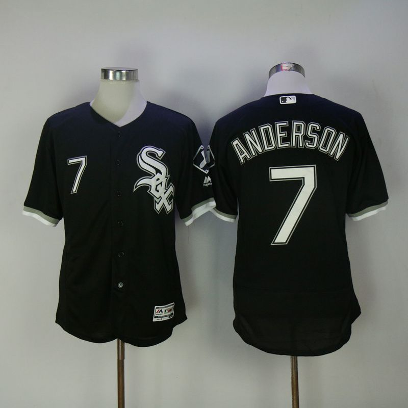 2017 Men MLB Chicago White Sox 7 Anderson Black Elite Jerseys