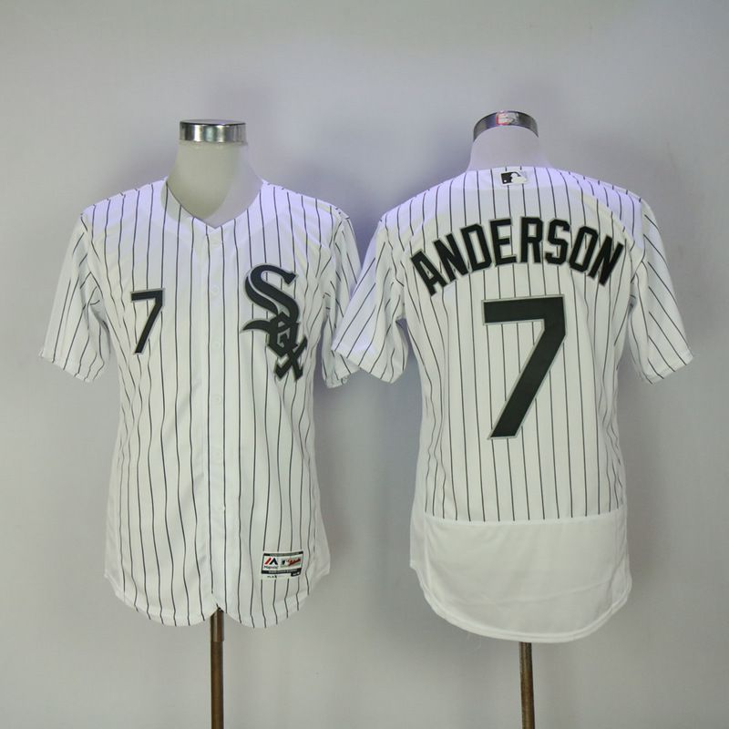 2017 Men MLB Chicago White Sox 7 Anderson White Elite Jerseys