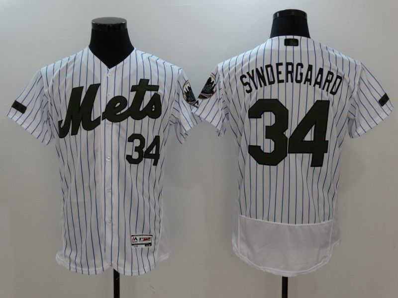 2017 Men MLB New York Mets 34 Syndergaard White Elite Commemorative Edition Jerseys