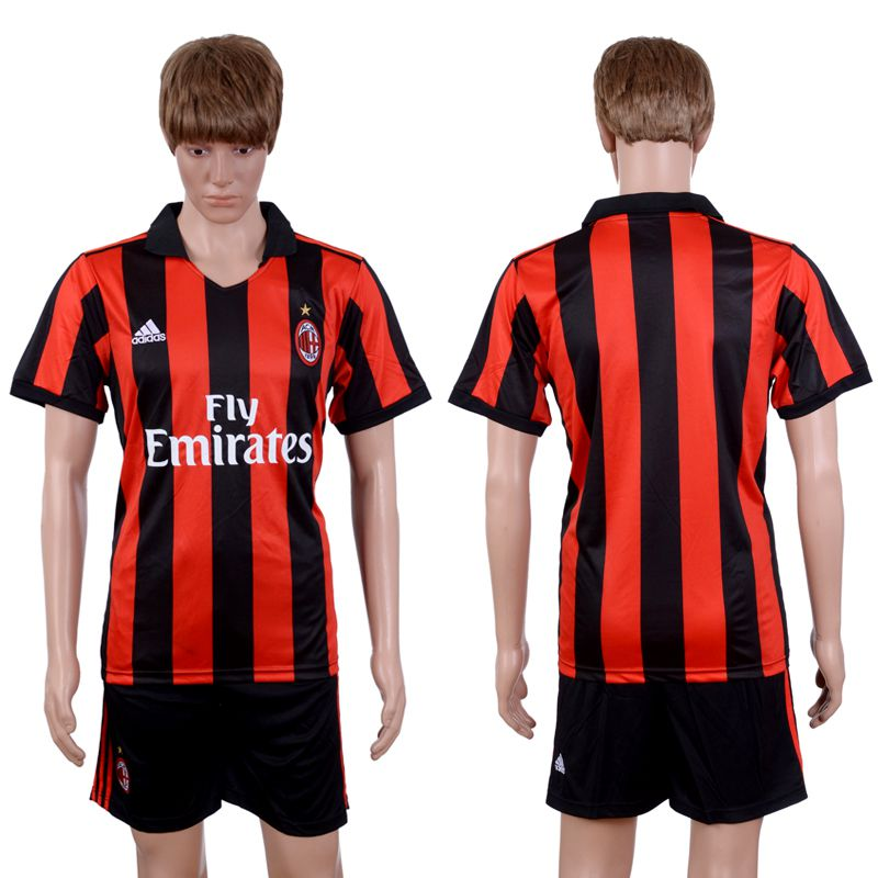 2017-2018 Club Men Ac Milan Home Suits Soccer Jersey