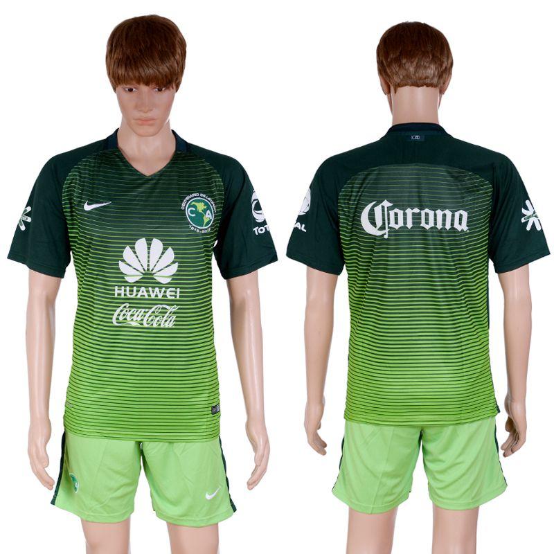 on sale 15b72 e267b 2015 2016 club america soccer jersey uniform green short sleeves