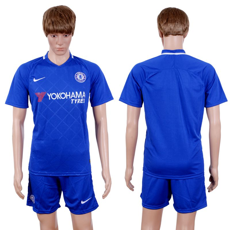2017-2018 Club Men Chelsea Home Suits Soccer Jersey