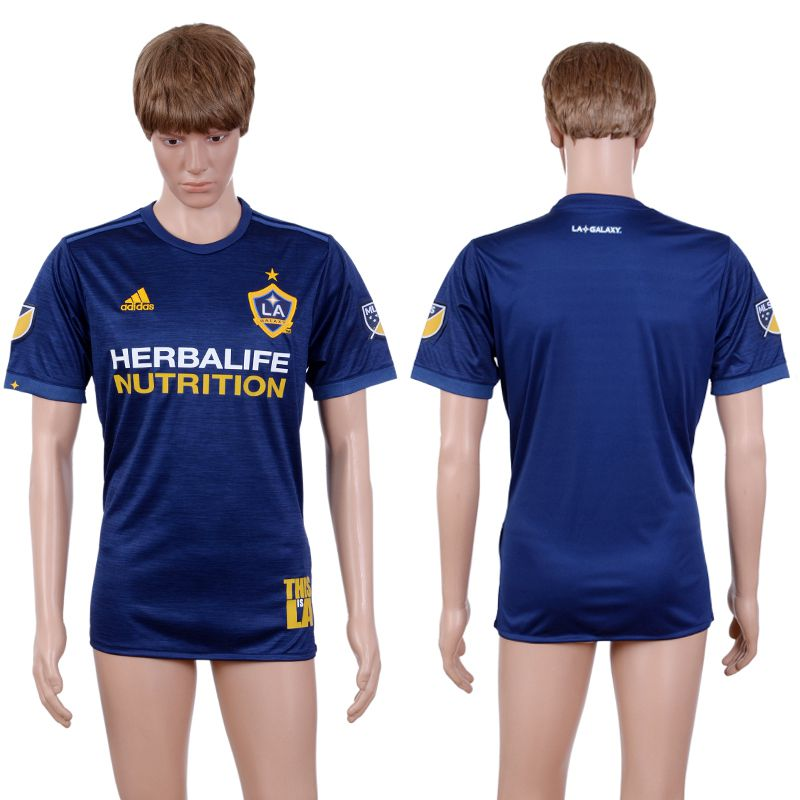 2017-2018 Club Men La Galaxy Away Aaa+ Soccer Jersey