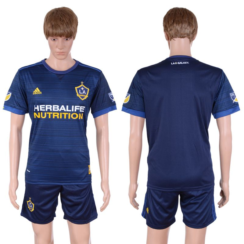 2017-2018 Club Men La Galaxy Away Suits Soccer Jersey