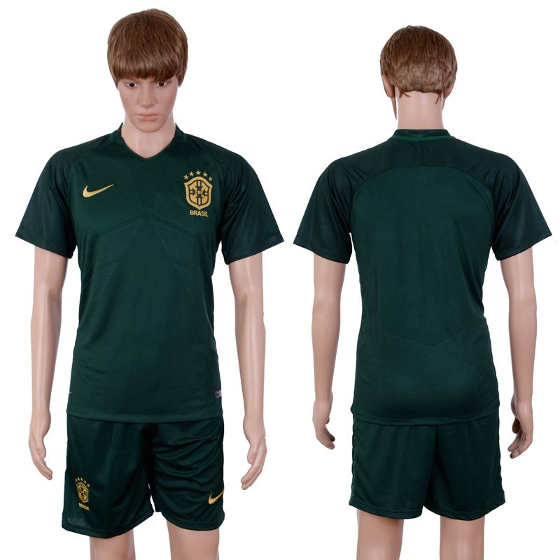 2017-2018 National Men Brazil Away Suits Soccer Jersey