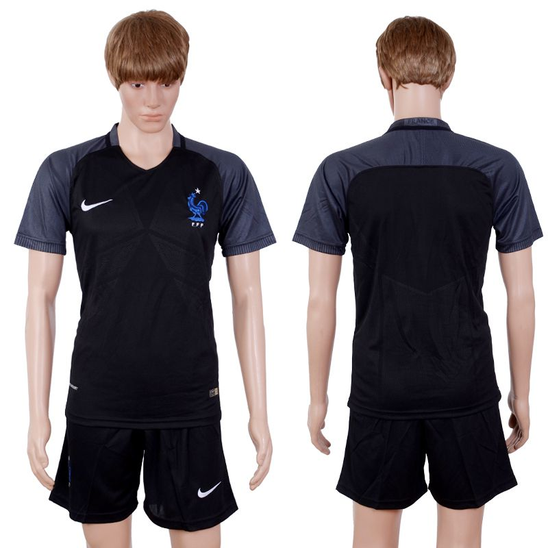 2017-2018 National Hommes France Away Suits Soccer Jersey