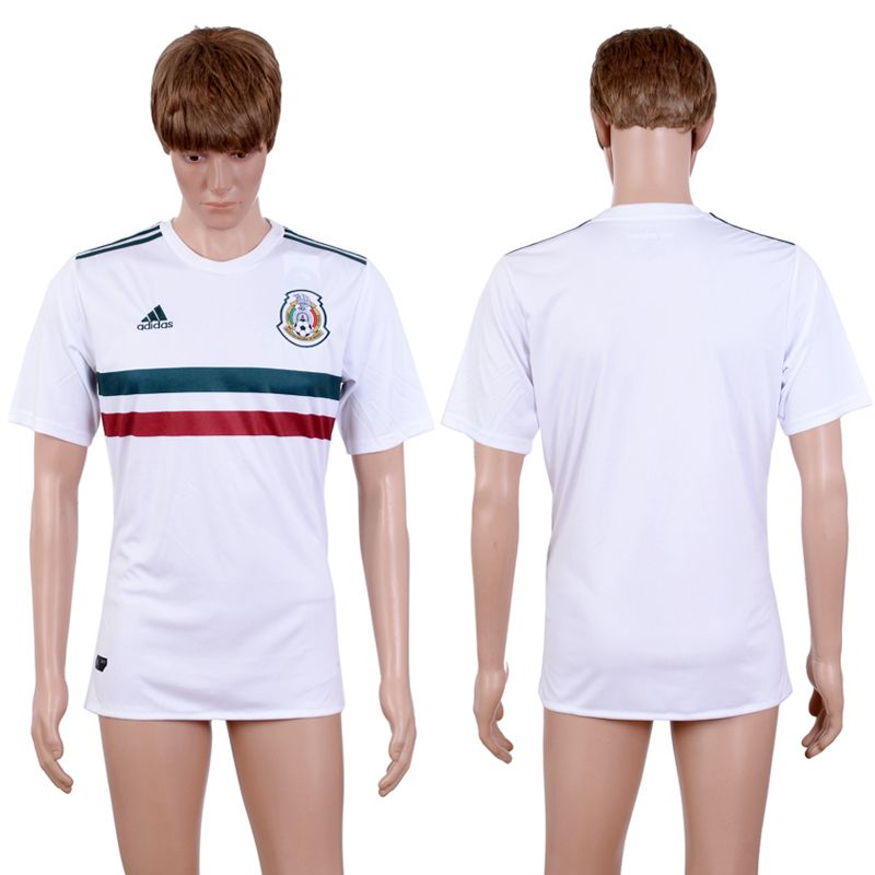 2017-2018 National Hommes Mexique Aaa + Blanc Soccer Jersey