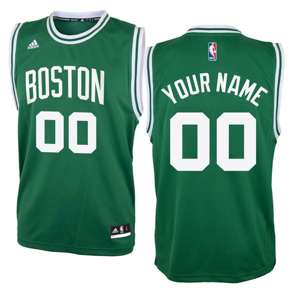 Adidas Boston Celtics Youth Custom Replica Road Green NBA Jersey