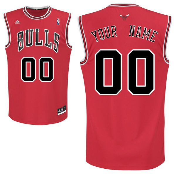 Adidas Chicago Bulls Youth Custom Replica Road Red NBA Jersey
