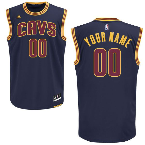 Adidas Cleveland Cavaliers Men Custom Alternate Navy Blue NBA Jersey