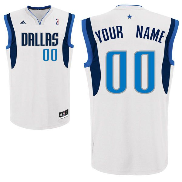Adidas Dallas Mavericks Youth Custom Replica Home White NBA Jersey