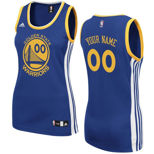 Adidas Golden State Warriors Women Custom Replica Basketball Royal Blue NBA Jersey