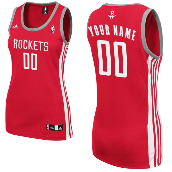 Adidas Houston Rockets Women Custom Replica Road Red NBA Jersey