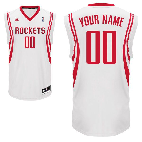 Adidas Houston Rockets Youth Custom Replica Home White NBA Jersey