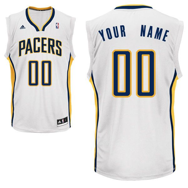 Adidas Indiana Pacers Youth Custom Replica Home White NBA Jersey
