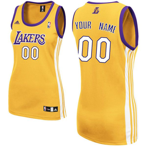 Adidas Los Angeles Lakers Women Custom Replica Home Yellow NBA Jersey