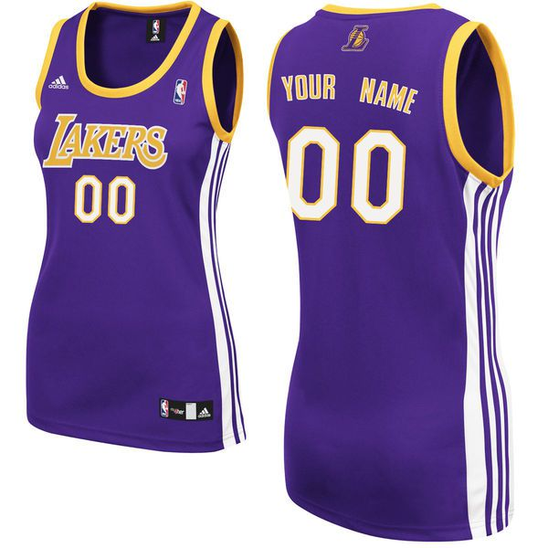 Adidas Los Angeles Lakers Women Custom Replica Road Purple NBA Jersey