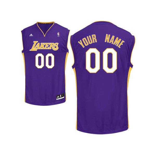 Adidas Los Angeles Lakers Youth Custom Replica Road Purple NBA Jersey
