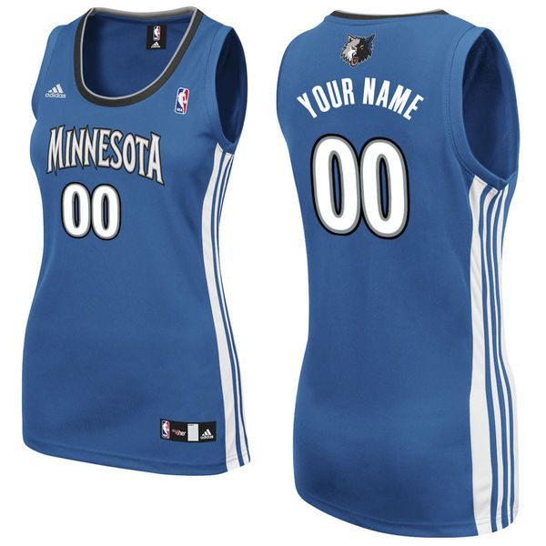 Adidas Minnesota Timberwolves Women Custom Replica Road Royal NBA Jersey
