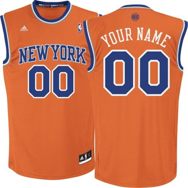 Adidas New York Knicks Youth Custom Replica Alternate Orange NBA Jersey