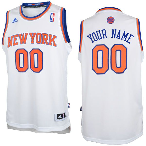 Adidas New York Knicks Youth Custom Replica Home White NBA Jersey