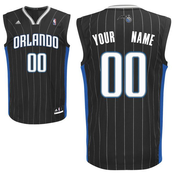 Adidas Orlando Magic Youth Custom Replica Alternate Black NBA Jersey