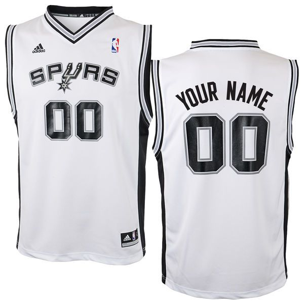 Adidas San Antonio Spurs Youth Custom Replica Home White NBA Jersey