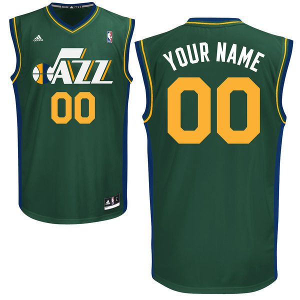 Adidas Utah Jazz Youth Customizable Replica Alternate Green NBA Jersey
