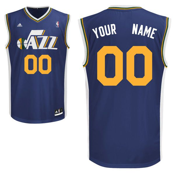 Adidas Utah Jazz Youth Customizable Replica Road Blue NBA Jersey