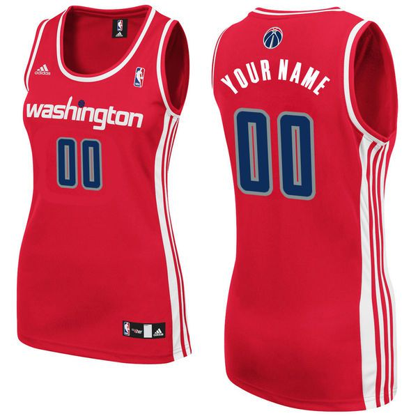 Adidas Washington Wizards Women Custom Replica Road Red NBA Jersey