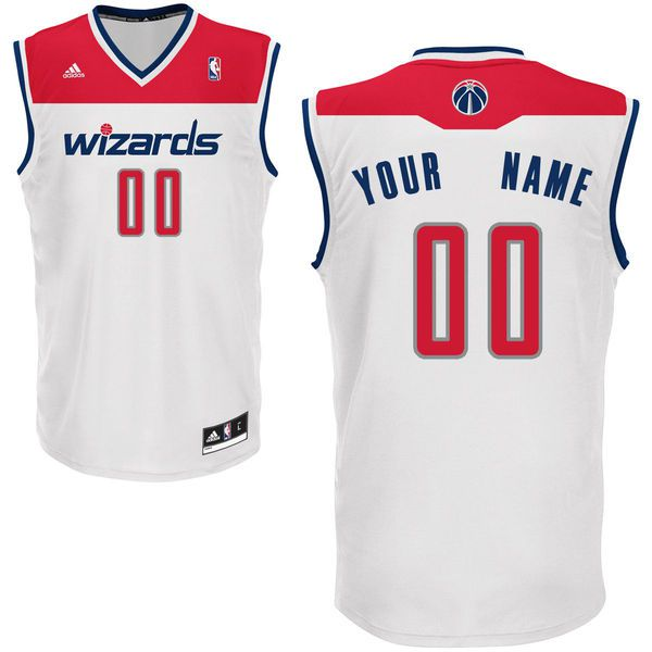 Adidas Washington Wizards Youth Custom Replica Home White NBA Jersey