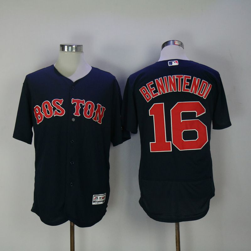 Men 2017 MLB Boston Red Sox 16 Benintendi Blue Elite Jerseys