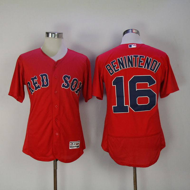 Men 2017 MLB Boston Red Sox 16 Benintendi Red Elite Jerseys