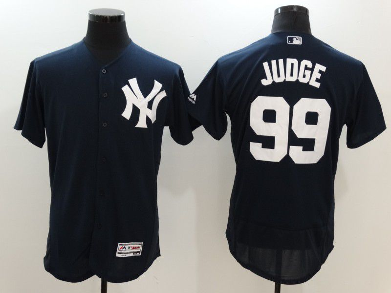 Men 2017 MLB New York Yankees 99 Judge Blue Elite Jerseys