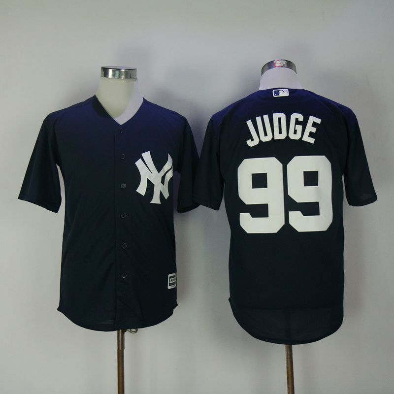Men 2017 MLB New York Yankees 99 Judge Blue Game Jerseys